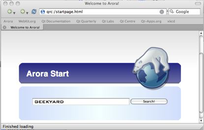 Arora Web Browser