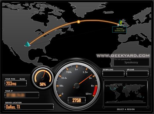 testing internet speed,