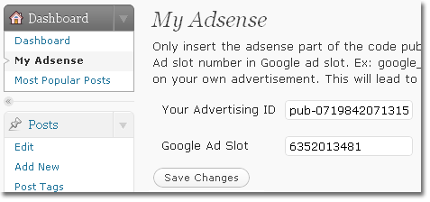 Adding Google AdSense in Your Posts