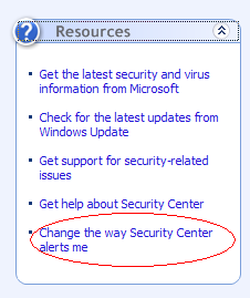 """How to Disable """"Your computer might be at risk"""" Popup in Windows XP SP2"""