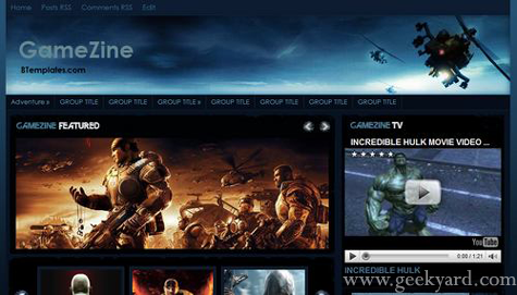 GameZine - Blogger Template