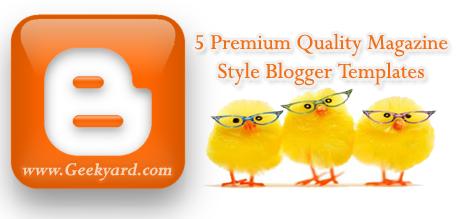 Magazine Style Blogger Templates