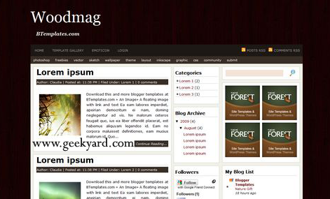 Woodmag Blogger Template