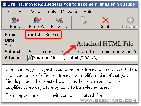 YouTube Spam Emails Carry Malicious JavaScript