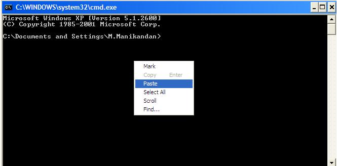 How to Copy and Paste in Windows Command Screen