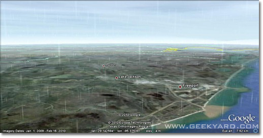 Google Earth Shows The Rain and Snow in Real Time