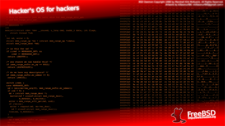 Hackers Os - Free BSD Wallpaper