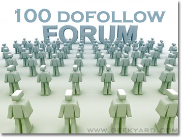 100 Dofollow Forums