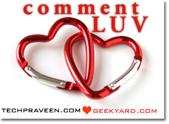 DoFollow and CommentLuv Enabled in Geekyard Blog