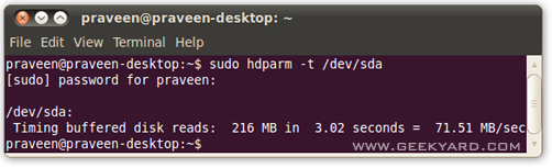 Check your Hard disk speed on Ubuntu with Benchmark