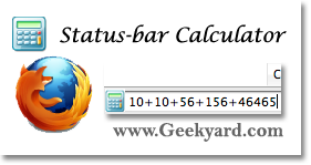 Add Status-bar Scientific Calculator to Firefox