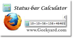 Add Status-bar Scientific Calculator to Firefox