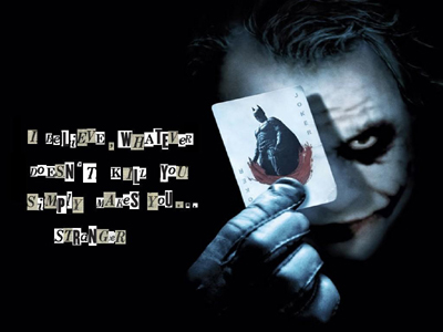 Dark Knight - Heath Ledger  Stranger Wallpaper