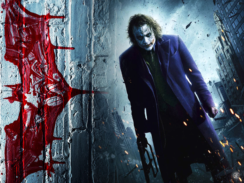 Dark Knight – Heath Ledger Stranger Wallpaper