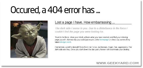Alien 404 Page Error