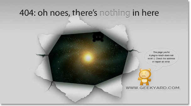 Blackhole 404-oh, there's nothing here