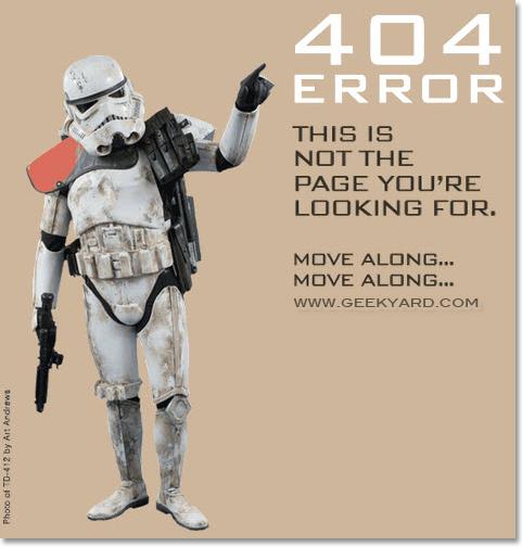Stormtrooper 404 Error Page