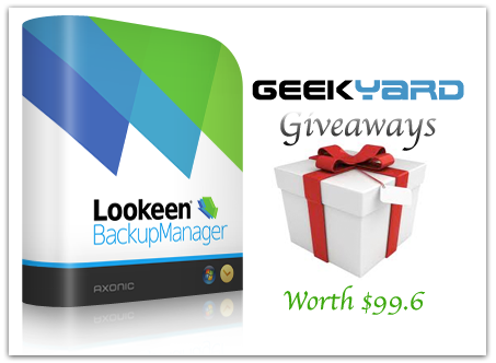 Geekyard Giveaways: Lookeen Backup Manager License Key worth $99.6