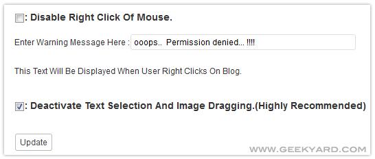 Blog Protector WordPress Plugin
