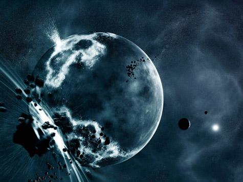 Deep Impact Space Art Wallpaper