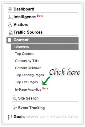 Google Analytics InPage Analytics