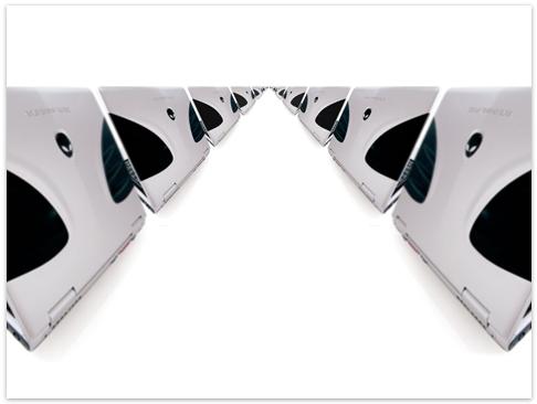 Alienware white Line HD Wallpaper