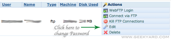 Change FTP Password in Dreamhost