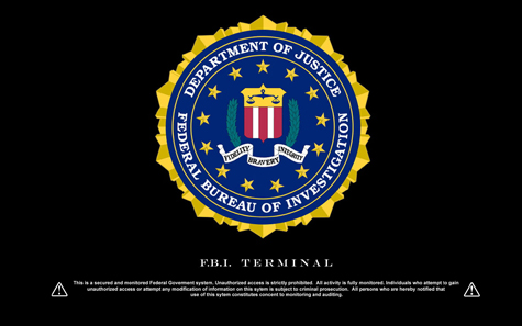 FBI Logo with Terminal warning Wallpapers