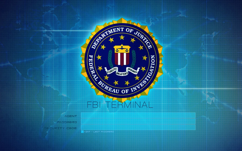 FBI Terminal Agent Login Screen Wallpapers