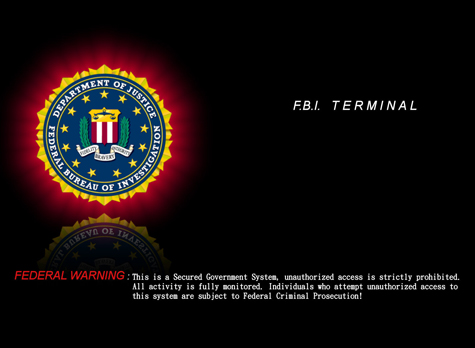 FBI Terminal Federal Warning Wallpapers