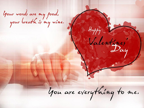 Happy valentine's day heart wordings Wallpaper
