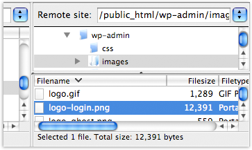 Geekyard FTP WordPress Logon Screen Change