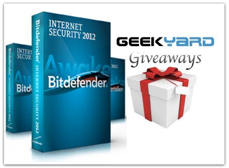 Geekyard Giveaways: 3 Bitdefender Internet Security 2012 License Key Worth $150