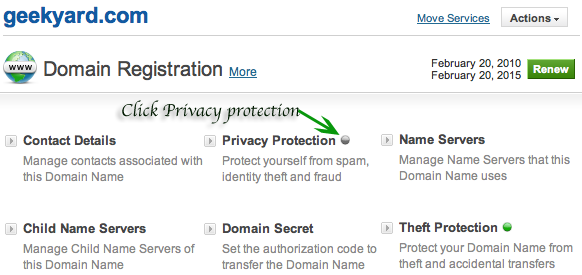 Click Domain Privacy Protection