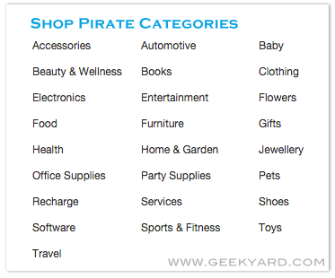 Shop Pirate Categories