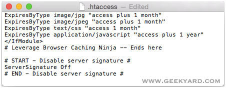 Turn OFF Server Signature Details by Editing .htaccess
