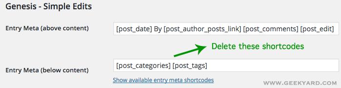 Delete Shortcodes in Genesis Simple Edits