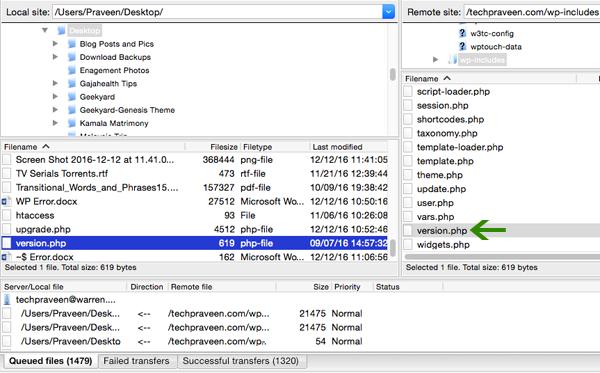 FTP for uploading Version PHP