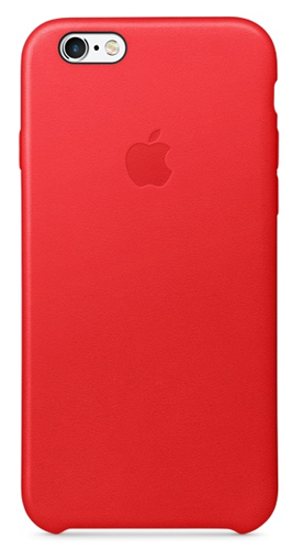 Apple iPhone 6S Leather Case - RED Color