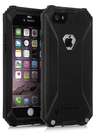 ISELECTOR IP68 Certified- shockproof Dirtproof Iceproof Snowproof Case with Touch ID and Full Body Protective Cove