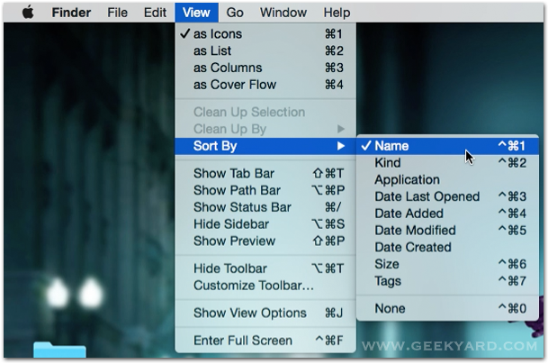 Mac Finder Sort Files By Name