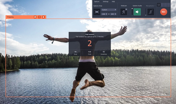Movavi Screen Recording Frame